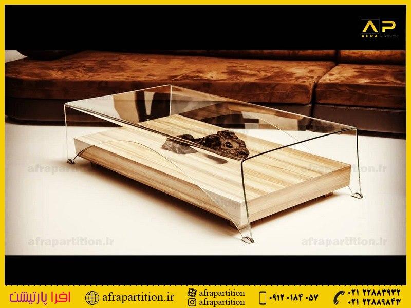 میز عسلی شیشه ای (1)