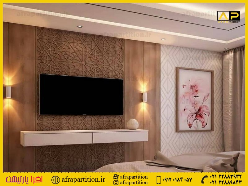 میز و دکور تلویزیون دیواری (8)