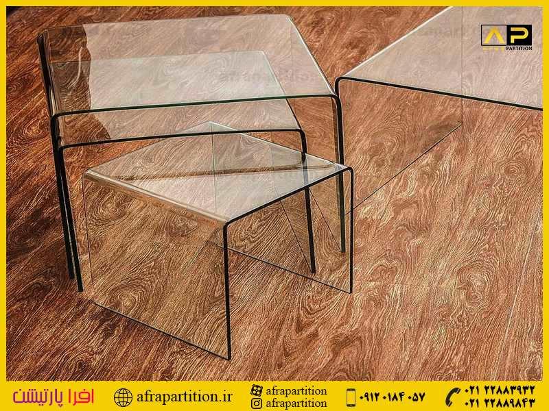 میز عسلی شیشه ای (3)