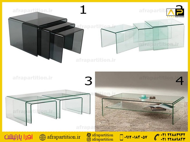 میز عسلی شیشه ای (39)