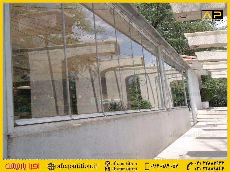 شیشه بالکن ریلی تاشو (90)