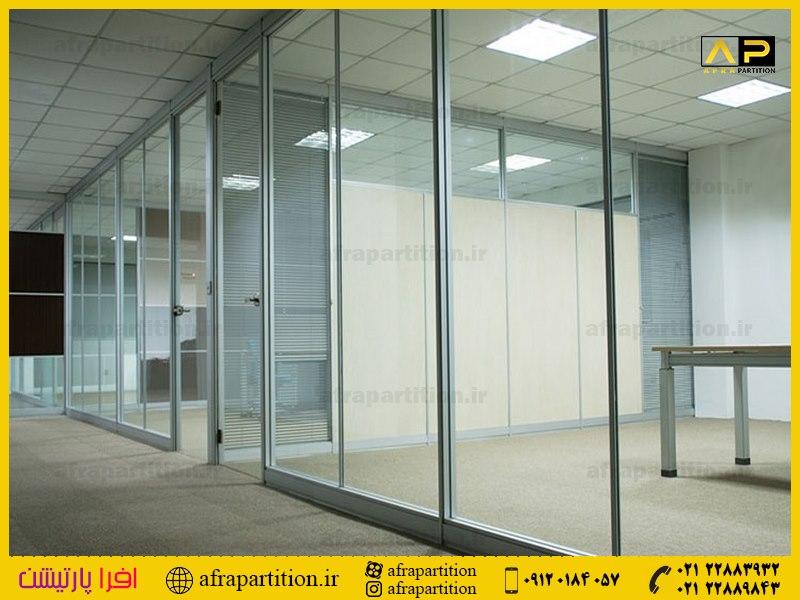 پارتیشن شیشه ای تک جداره فرم لس (20)