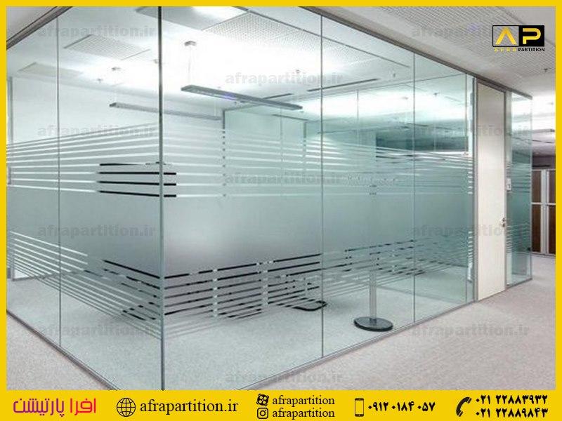 پارتیشن شیشه ای تک جداره فرم لس (24)