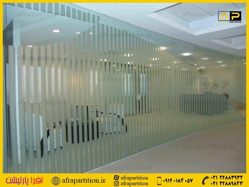پارتیشن شیشه ای تک جداره فرم لس (25)