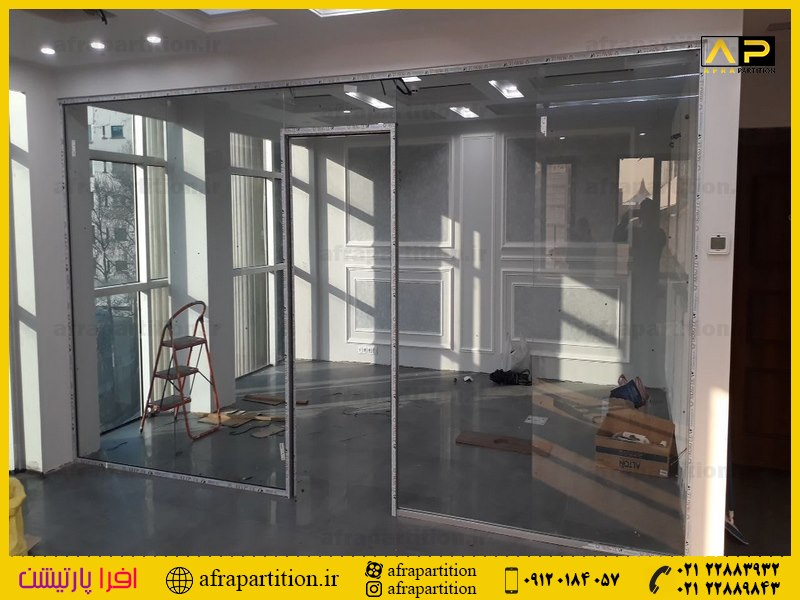 پارتیشن شیشه ای تک جداره فرم لس (36)