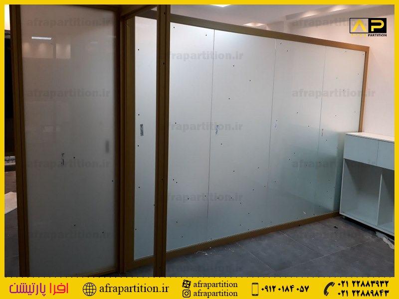 پارتیشن شیشه ای تک جداره فرم لس (37)