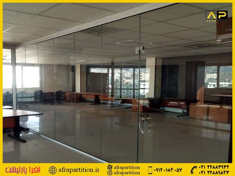 پارتیشن شیشه ای تک جداره فرم لس (56)