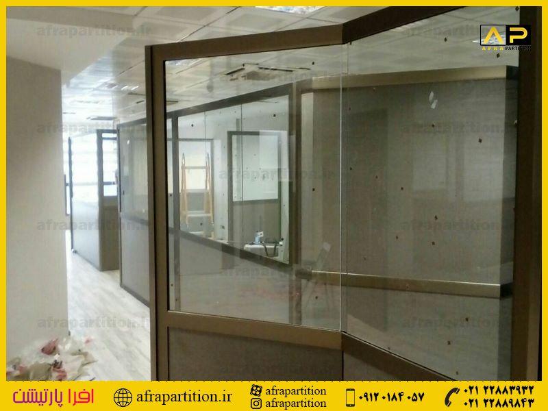 پارتیشن شیشه ای تک جداره فرم لس (75)